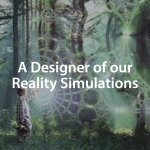 Designer of our Reality Simulations Header Image with boy in the forest opening a portal
