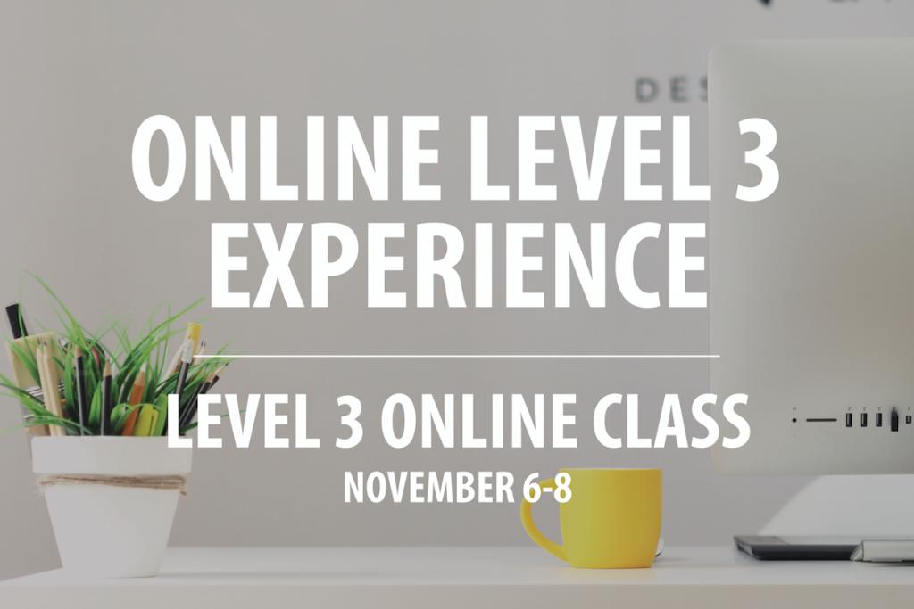 Live Event Header for Nov 6-8 Level 3