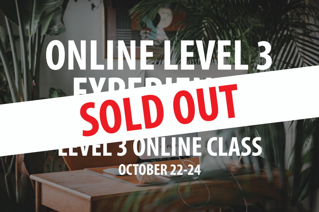 Level 3 October 22 Training Header Sold Out