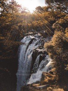 Akashic Records Waterfall and Sun