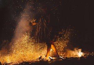 Man Around Fire Shamanism