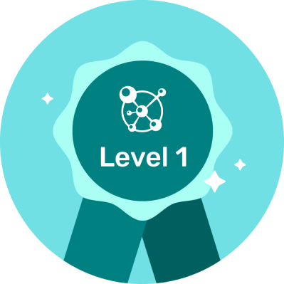 Level 1 Badge on Course Info Page