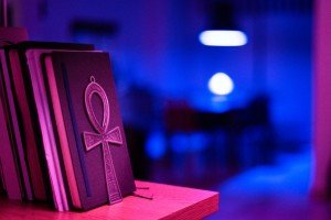 Bright Book End of an Ankh