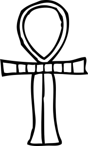 Digital Icon of an Ankh