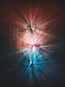 Colorful Streaks of Light