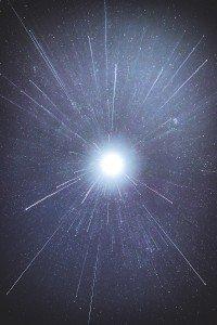 Streaks of Light in Space Post Death