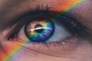 Eye with a Rainbow on it