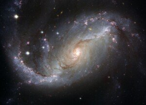 A galaxy and a constellation