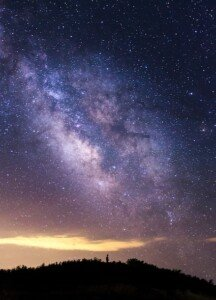 Distant Person under the Stars