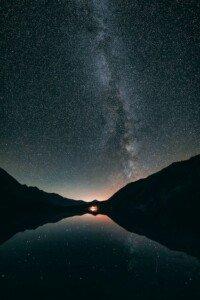 Night Sky Reflecting in the Lake