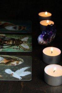 Candles and Tarot Cards