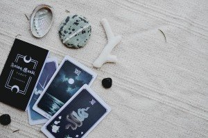 Tarot Card Reading on a Blanket