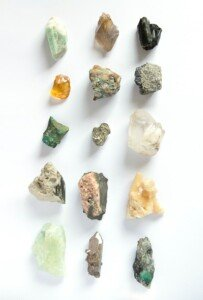 A mix of different crystals