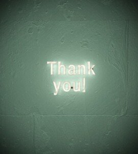 Thank You Light Up Sign