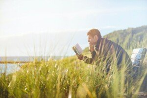 Learning with a Book in a Field at the Ocean