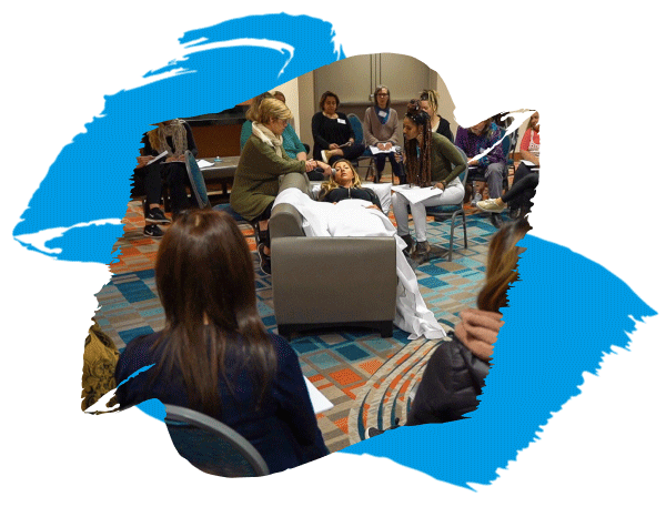 Practitioners running a Live Session