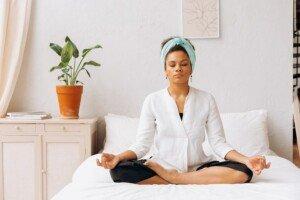Meditating after Reiki