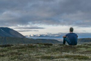 Man Thinking in the Mountains