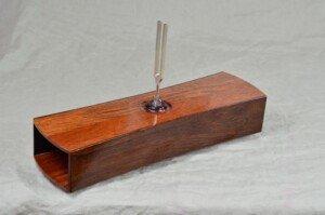 Tuning Fork on Wooden Speaker Box