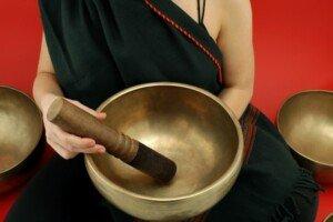Tibetan Bowl and Monk