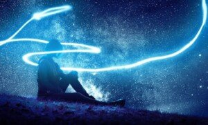 Astral Projection Person with Light