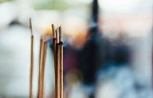 Incense Burning Outside