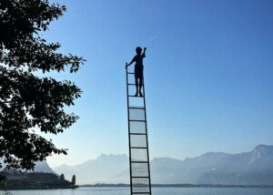 Astral Projecting on a Ladder