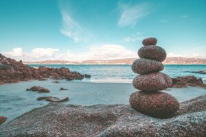 Rocks Stacked at the Ocean